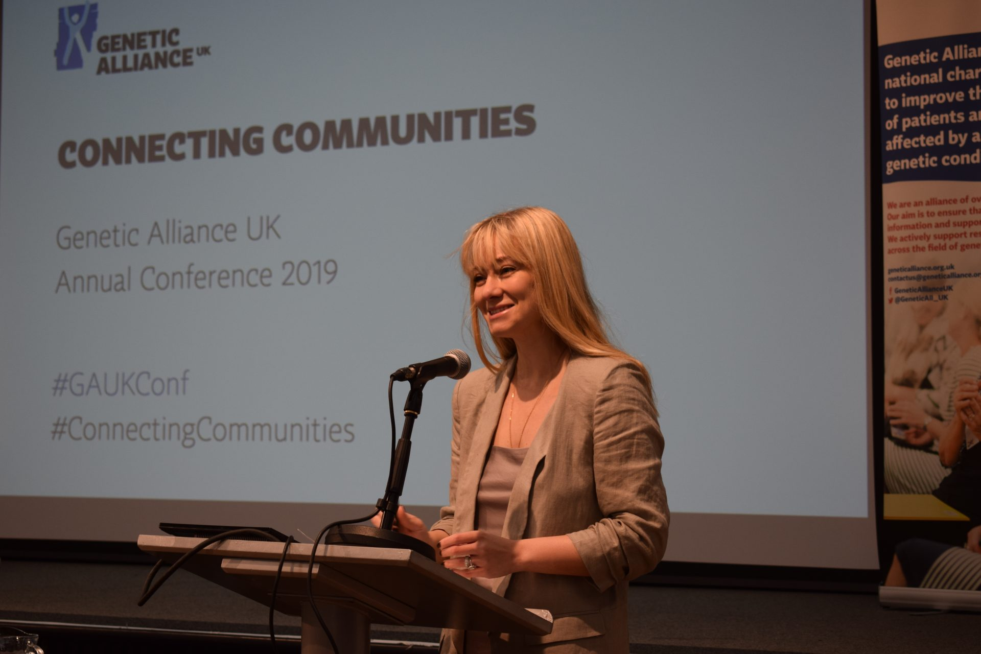 Baroness Blackwood announcing the launch of the survey at our annual conference.