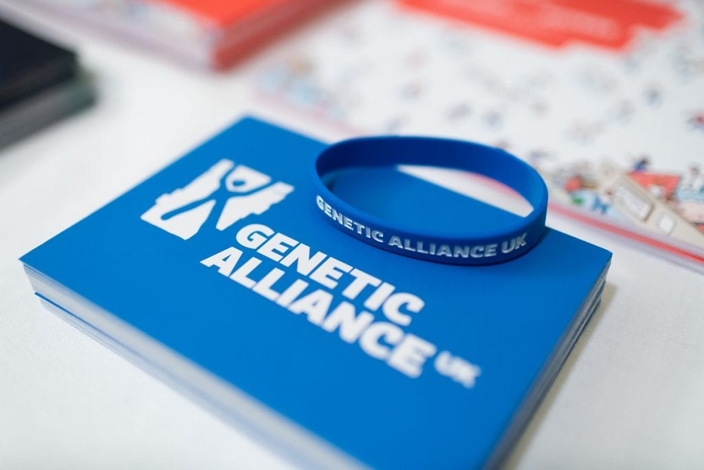 Genetic Alliance wristband and card